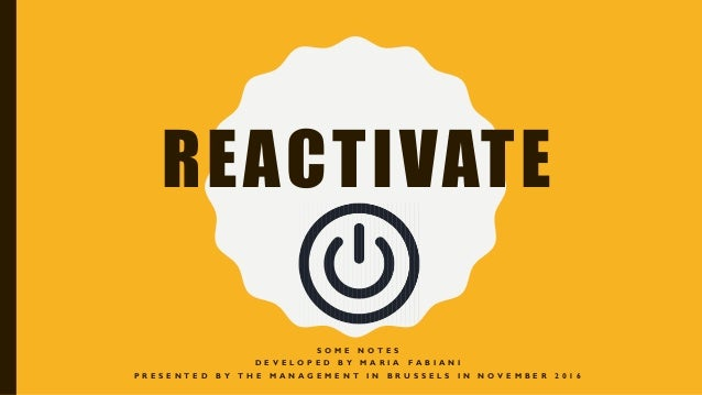 match com Reactivate
