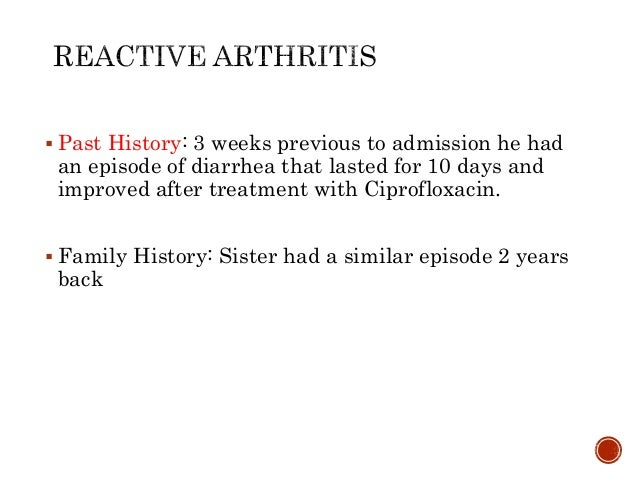  Past History: 3 weeks previous to admission he had an episode of diarrhea that lasted for 10 days and improved after tre...