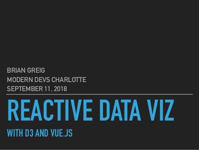 Reactive Data with D3 & Vue js