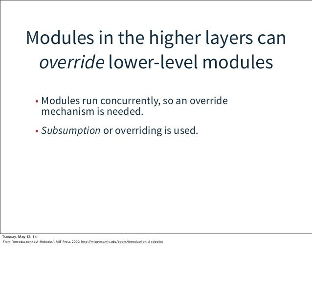 Modules in the higher layers can override lower-level modules • Modules run concurrently, so an override mechanism is need...