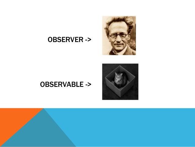 OBSERVER ->  OBSERVABLE ->