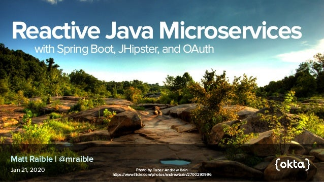 Reactive Microservices with Spring Boot and JHipster - Richmond JUG 2021