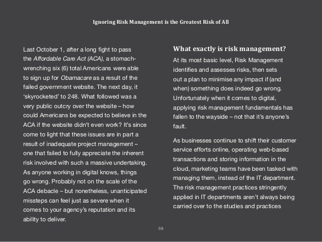 rapidly in recent times. Smart organisations have a senior executive role that manages risk, and this risk management func...