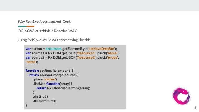 Reactive programming and RxJS