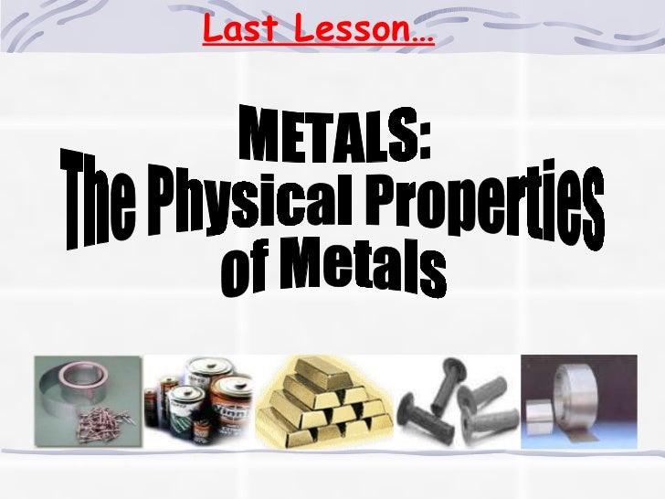 Metals Reactivity Series
