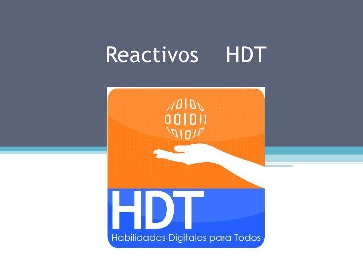 Reactivos   HDT