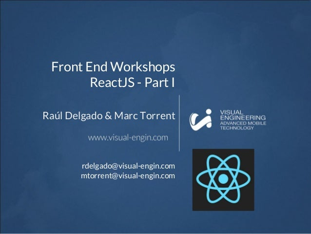 Workshop 19 Reactjs Introduction