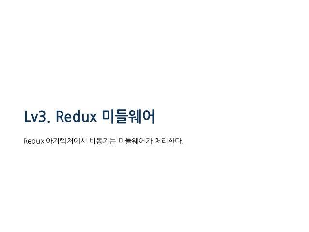 Lv3. Redux 미들웨어 Redux 아키텍처에서 비동기는 미들웨어가 처리한다.