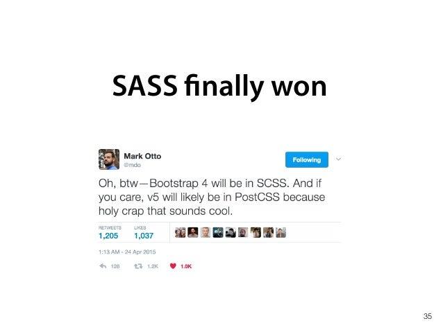 SASS finally won 36 M onolithic