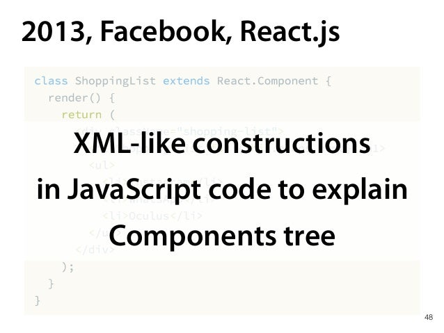 React covers HTML elements only *