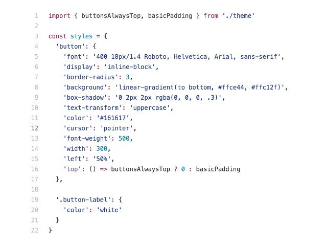 74 1. Use already existing CSS 2. Use CSS from a wide range of awesome examples 3. Use CSS from DevTools PreJSS means