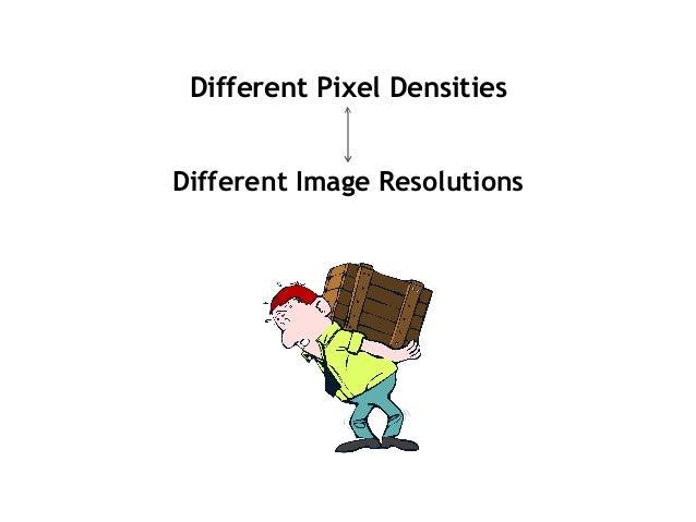 Different Pixel Densities Different Image Resolutions