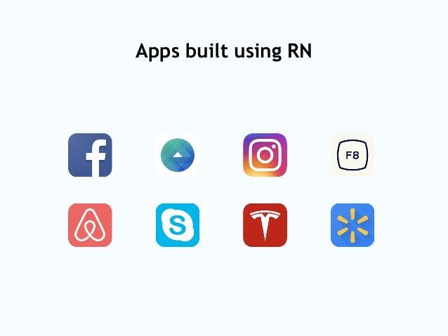 Apps built using RN