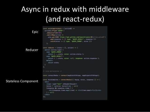 Async Redux Actions With RxJS - React Rally 2016