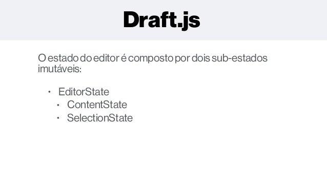 Edição de Texto Rico com React e Draft js