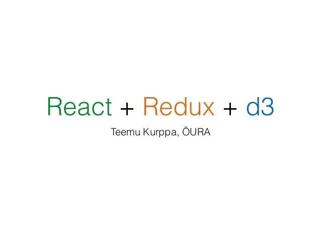 React + Redux + d3 js