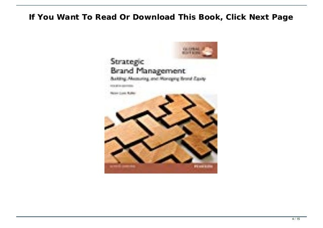 Read Book Strategic Brand Management Txt Pdf Epub