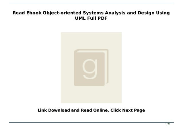 Read Ebook Object Oriented Systems Analysis And Design Using Uml Full