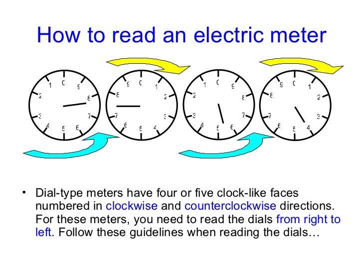 read electric meter how