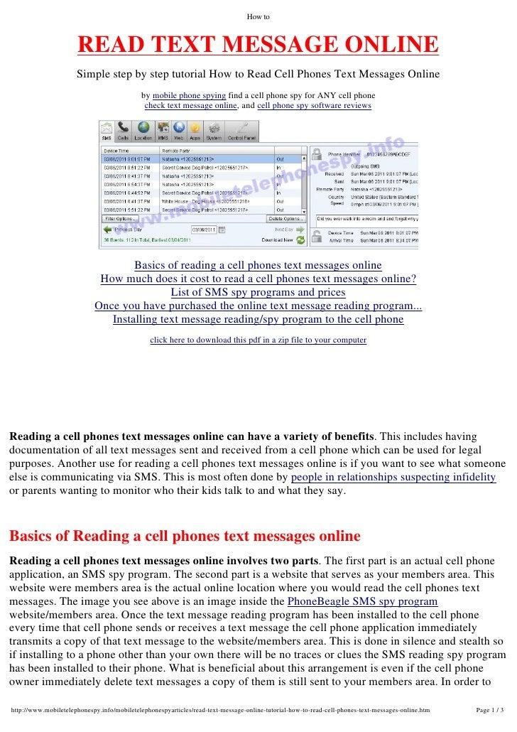Read Verizon Text Messages Online