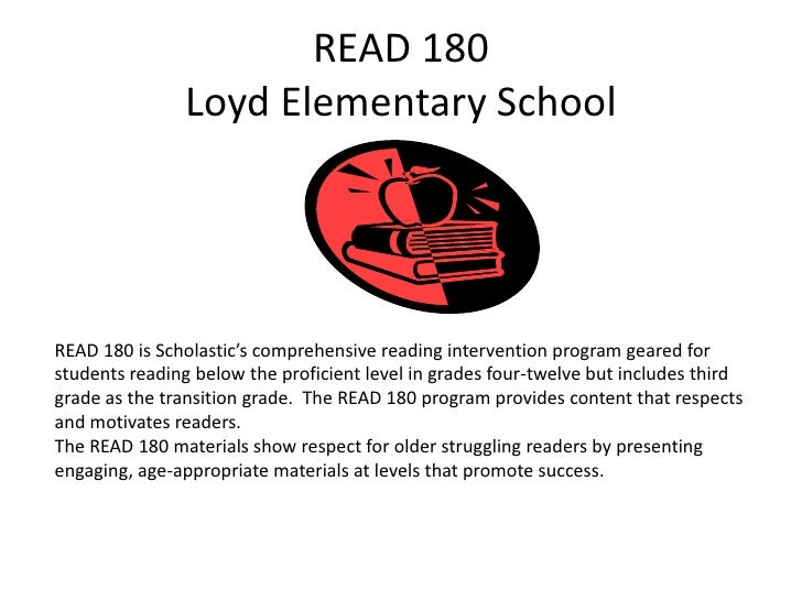 READ 180 Loyd Elementary School<br />READ 180 is Scholastic's comprehensive reading intervention program geared for studen...