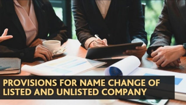 Recommended Articles ❏ Read All About The Name Change For Listed And Unlisted Company ❏ E-Form PAS-6 To Be Filed With ROC ...