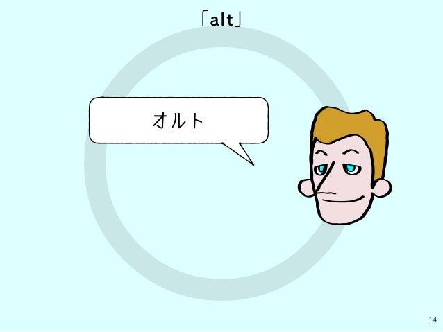 ○ 14 「alt」 オルト