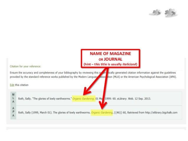 Read a periodical source citation