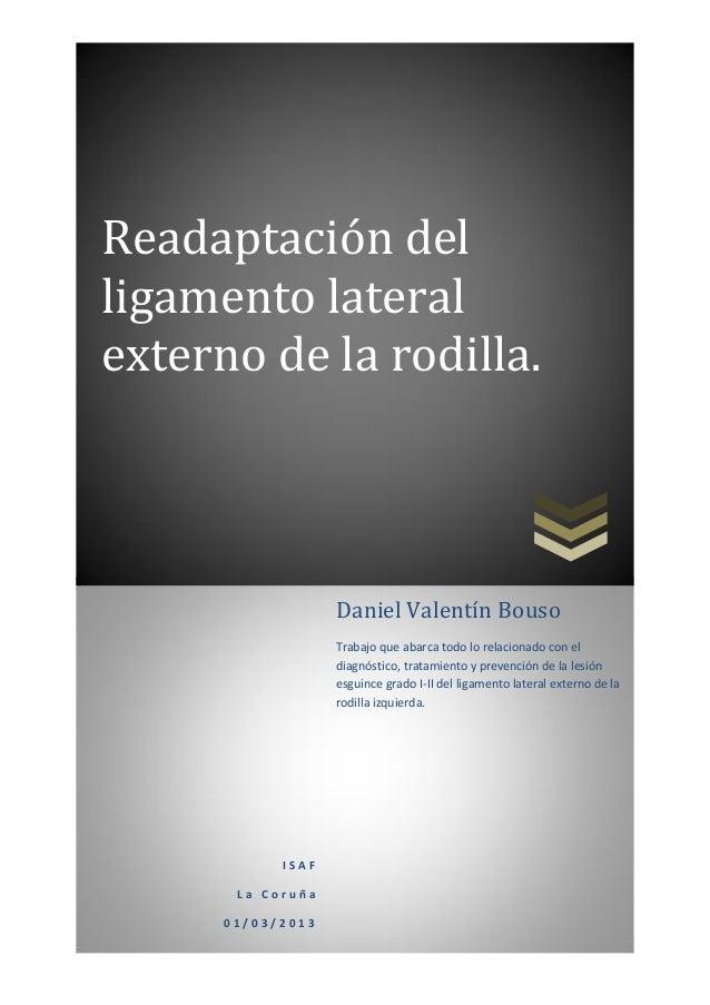 Readaptación ligamento lateral externo (lle) rodilla
