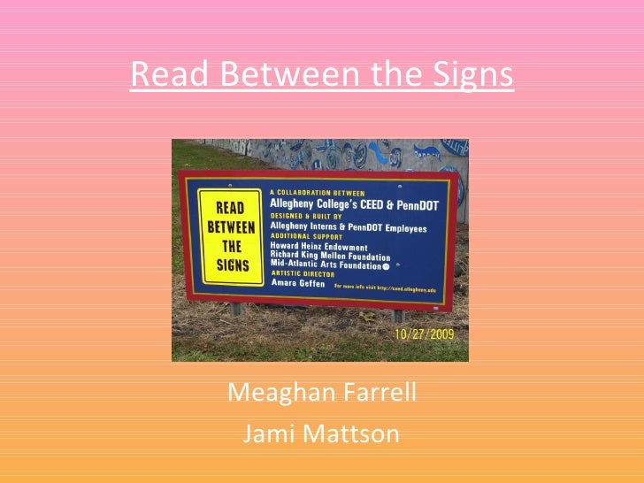 Read Between the Signs Meaghan Farrell Jami Mattson