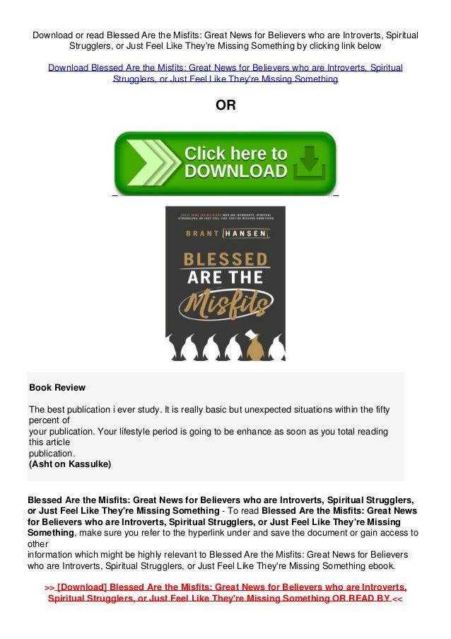 Spiritual Misfit PDF Free Download