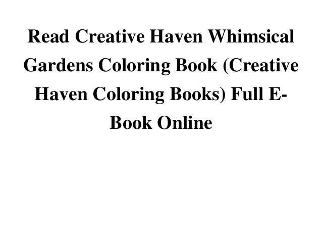 Read creative haven whimsical gardens coloring book creative haven co…