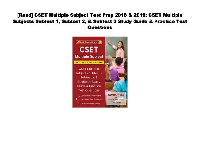 PDF] CSET Multiple Subject Test Prep 2018 & 2019: CSET