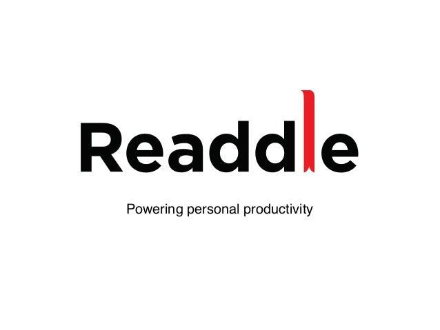 Powering personal productivity