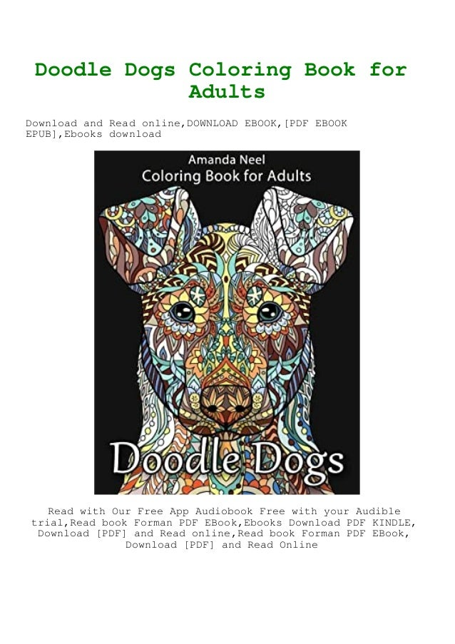 READ [EBOOK] Doodle Dogs Coloring Book For Adults {read Online}