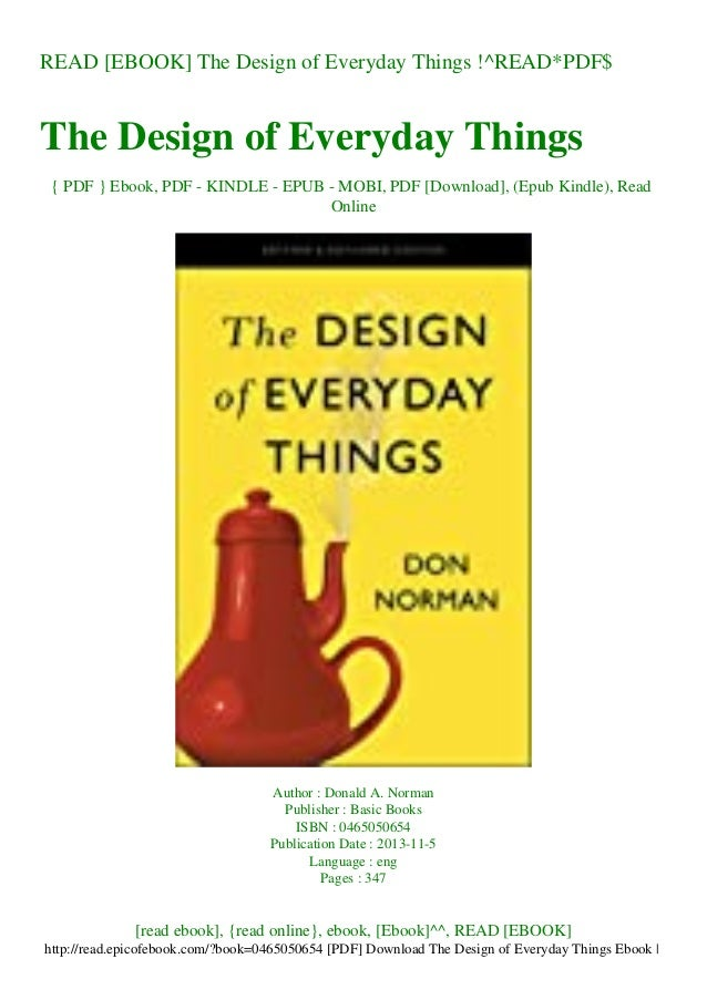 READ [EBOOK] The Design of Everyday Things !^READ*PDF$ The Design of Everyday Things { PDF } Ebook, PDF - KINDLE - EPUB - ...