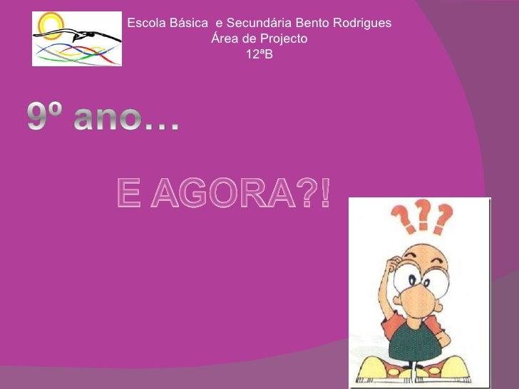 Escola Básica  e Secundária Bento Rodrigues Área de Projecto 12ªB