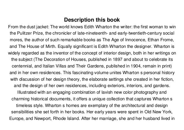 Read Edith Wharton: A House Full of Rooms: Architecture, Interiors, Gardens  PDF Full Ebook Free Slide 3