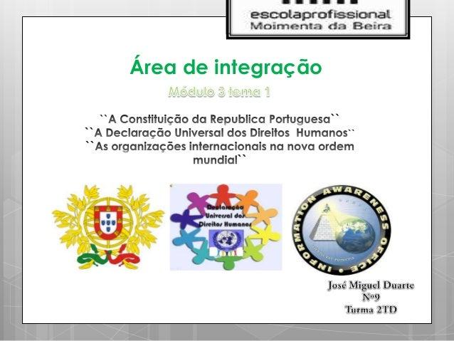 Área de integração