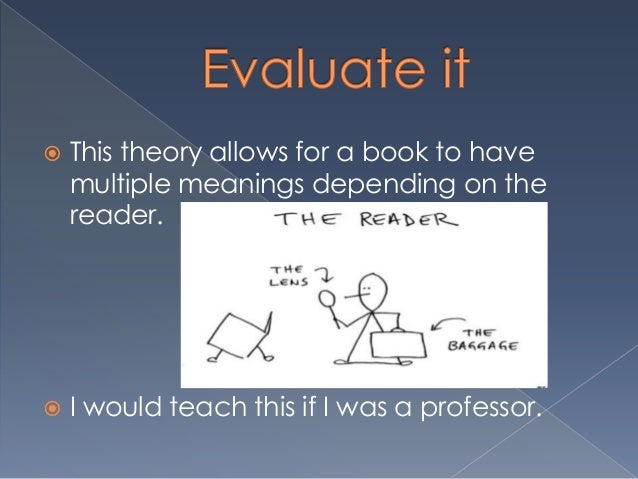 reader response theory essay example