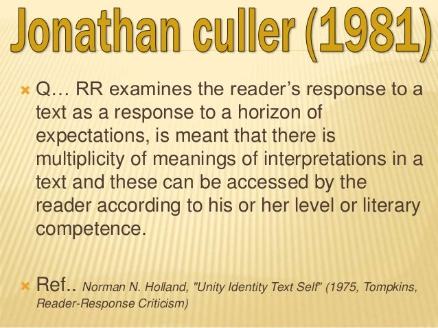 reader response theory on the fater Reader-response theories and life narratives by mary anderson reader-response theories and life narratives another version of reader-response theory.