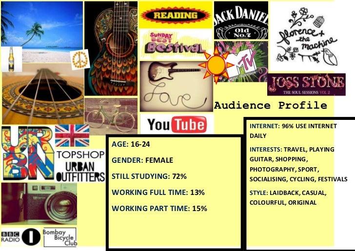 Audience Profile                              INTERNET: 96% USE INTERNET                              DAILYAGE: 16-24     ...