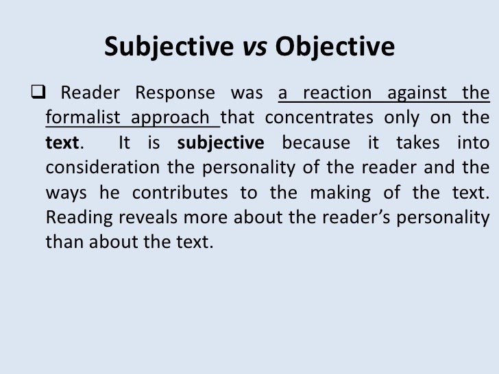 reader response theory and wolfgang iser Letras 54 (2013) reader-response theory: a path towards wolfgang iser 15 in regard to meaning, charles e bressler points out that meaning [ ] is context-dependent and intricately associated with the reading.