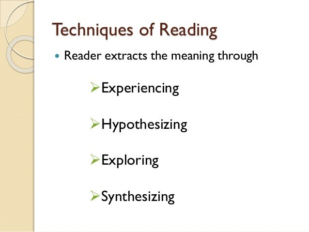 a study on reader response theory Teachers of maltese literature, initiated in a methodology study-unit over one   drawing on reader-response theories, and coupled with insights from reflective.