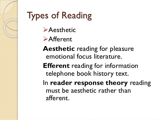 reader response theory Introduction to literature michael delahoyde reader-response criticism reader-response criticism is not a subjective, impressionistic free-for-all, nor a legitimizing of all half-baked, arbitrary, personal comments on literary works instead, it is a school of criticism which emerged in the 1970s, focused on finding meaning.