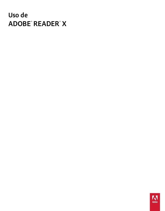 Uso deADOBE ® READER ® X