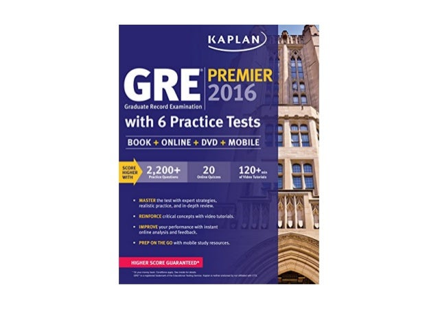 Read gre premier 2016 with 6 practice tests book online ...