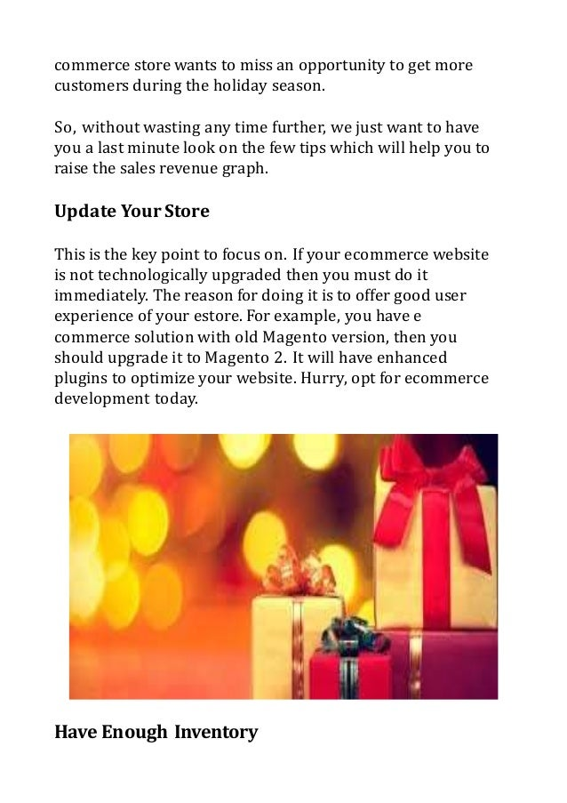Prepare Your Ecommerce Stores For This Festive Season Slide 2