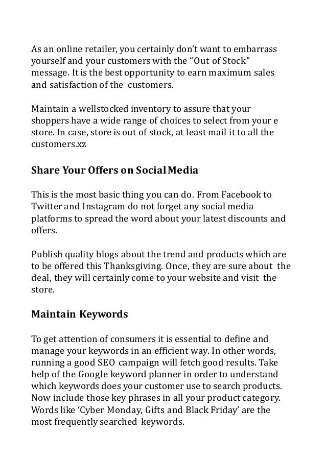 Prepare Your Ecommerce Stores For This Festive Season Slide 3