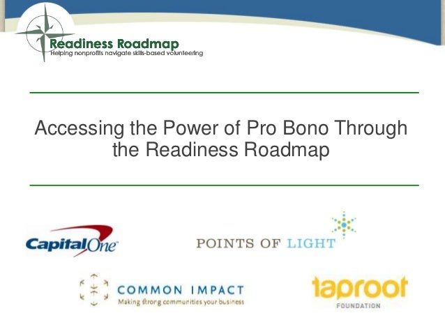 Accessing the Power of Pro Bono Through the Readiness Roadmap